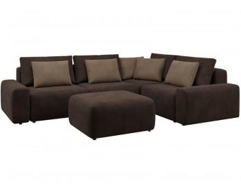 Модульный диван Гунер-1 Плюш Нуар нераскладной