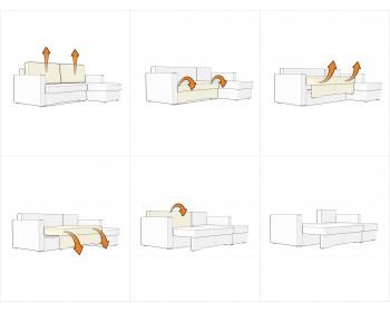 Угловой диван Гунер-2 Плюш Азурит