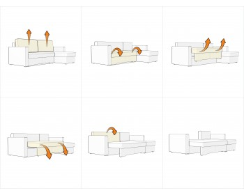 Угловой диван Гунер-2 Плюш Марсал