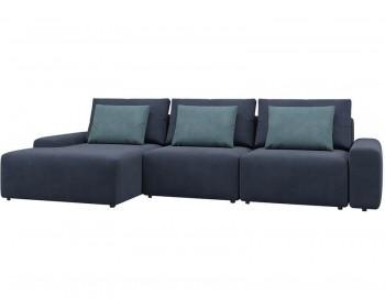 Модульный диван Гунер-2 Плюш Кобальт нераскладной