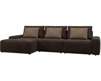 Модульный диван Гунер-2 Плюш Нуар нераскладной