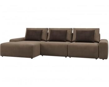 Модульный диван Гунер-2 Плюш Хазел нераскладной