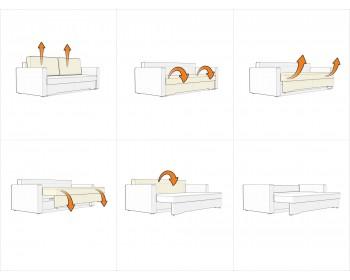 Модульный диван Гунер-1 Плюш Мастард