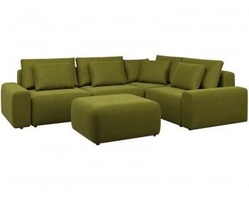 Модульный диван Гунер-1 Плюш Свамп нераскладной