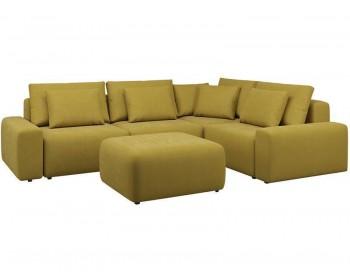 Модульный диван Гунер-1 Плюш Мастард нераскладной