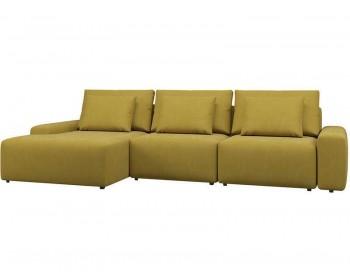 Угловой диван Гунер-2 Плюш Мастард нераскладной