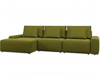 Угловой диван Гунер-2 Плюш Свамп нераскладной