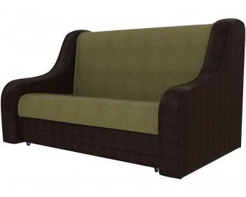 Кожаный диван Сезам Венге Грин