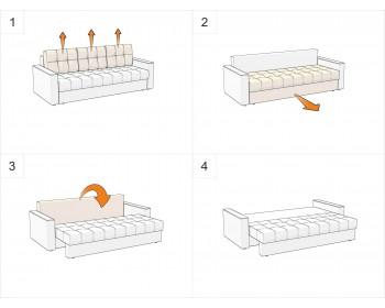 Прямой диван Атланта-Эконом Грин со столиком
