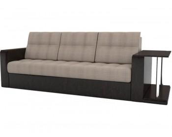 Прямой диван Атланта-Эконом Сан Браун со столиком