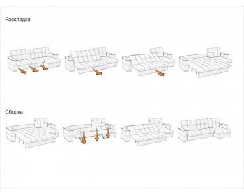 Угловой диван Сидней 140 с оттоманкой декор дуб каньон