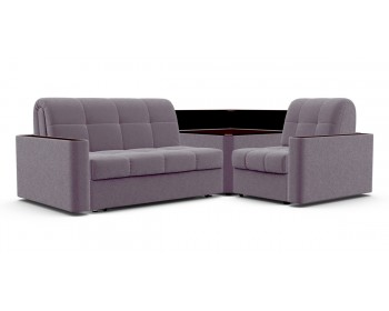 Модульный диван Сидней 140 с полкой декор венге